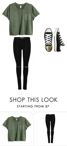 """School"" by abbympigeon ❤ liked on Polyvore featuring Converse"