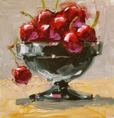 painting bowl of cherries - Google Search