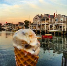 Just steps from the water, and from the islands incredibly engaging and exciting whaling museum, The Juice Bar (508/228-5799) in Nantucket, Mass., serves up its delicious signature Crantucket ice cream with dark chocolate and dried cranberries.  (Courtesy Nantucket Juice Bar) (From: 20 Yummiest Ice Cream Shops in America)