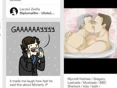 I was looking up cute funny Johnlock stuff and I saw this side by side