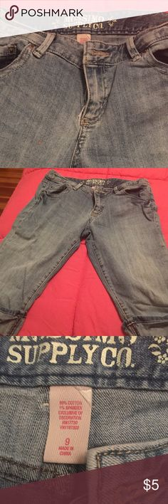Long denim shorts Long denim shorts. Never worn Mossimo Supply Co Shorts Jean Shorts