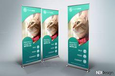Pet Shop Roll-Up Banner - v38 by NEXDesign on @creativemarket