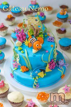 Sweet table Némo - le gâteau Némo et quelques pas à pas en pâte à sucre - Macaronette et cie