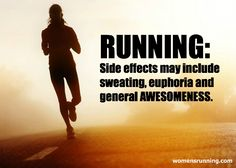 Running can have side effects