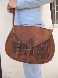 Leather Purse Gypsy style small ladies leather purse women leather purse messenger bag brown leather satchel small travel pouch camera case. $64.00, via Etsy.