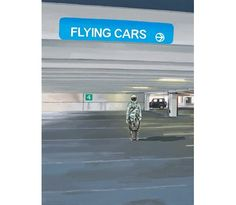 Painting... Flying Cars to the Right by Scott Listfield $35