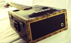 Cigar Box Ukulele Tabak Coffee Infused Both Electric by WoodFinery, $203.00