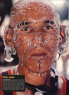 Piercings ugly people face