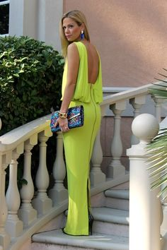 Chartreuse Gown   Women's Look   ASOS Fashion Finder