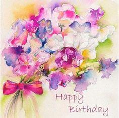 Happy Birthday Greetings Friends, Happy Birthday Flower, Happy Birthday Pictures, Birthday Blessings, Happy Birthday Greeting Card, Happy Birthday Messages, Vintage Birthday Cards, Birthday Wishes Flowers, Birthday Wishes Quotes