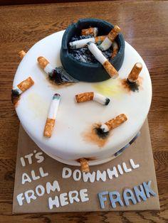Cigarette cake Instagram.com/theyellowbirdbakery