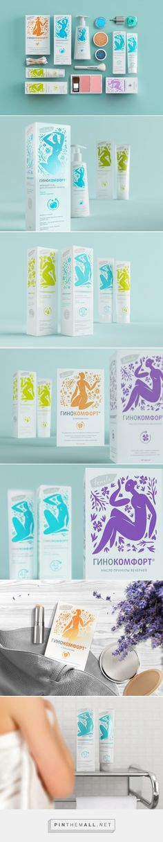 "Ginocomfort / Packaging redesign for ""Ginocomfort"" intimate cosmetics and personal care products."