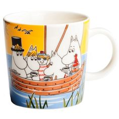 Moomin Mug Sail With Niblings and Too-Ticky - Tove Slotte-Elevant - Arabia… Moomin Shop, Moomin Mugs, Pots, Tove Jansson, Cool Mugs, Nordic Design, Scandinavian Design, Dinner Sets, Marimekko