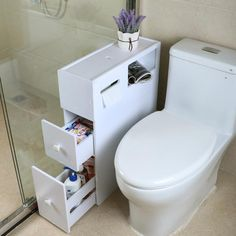 Cheap Storage Holders & Racks, Buy Directly from China shelves toilet shelves toilet side cabinet shelves waterproof bathroom racks Toilet Shelves, Toilet Storage, Cupboard Storage, Storage Rack, Storage Shelves, Cheap Storage, Bathroom Sink Storage, Bathroom Cupboards, Bathroom Rack