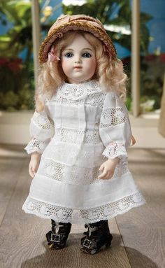 Sanctuary: A Marquis Cataloged Auction of Antique Dolls - March 19, 2016: Beautiful Petite French Bisque Bebe, Size 5/0, by Leon Casimir Bru
