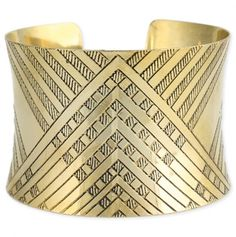 Art Deco Cuff, love! also very Lady Loki :)(mimicking the detail on the torso)