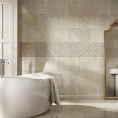 52 Ideas Bath Room Tiles Beige Style For 2019 Grey Bathroom Tiles, Kitchen Wall Tiles, Bathroom Tile Designs, Wall And Floor Tiles, Bathroom Flooring, Bathroom Ideas, Bathrooms Decor, Floors Kitchen, Bathroom Modern