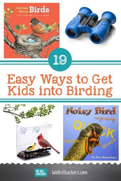 19 Easy Ways to Get Kids into Birding. Birding is a great way for kids to learn about the outdoors and become citizen scientists! Check out our tips for birding for kids here. #elementary #outdoorlearning #birding #reading #books #classroomideas #teachingideas #classroom #learningathome Student Learning, Kids Learning, Birds For Kids, What Is A Bird, Bird Quotes, Bird Book, End Of School Year, Free Lesson Plans, Science Fun