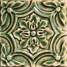 "Catalina, Color: Jade, 6X6"" Decorative Tile"
