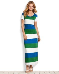 Tommy Bahama - Bold Stripe T-Shirt Maxi Dress