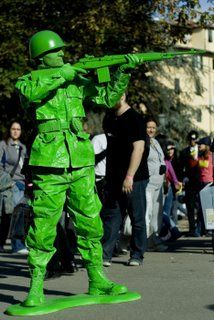 """Cool """"Toy Solider"""" costume for men.  Wonder if the hubs would do it?"""