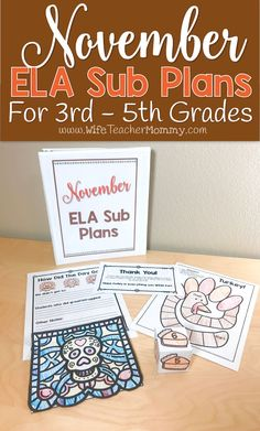 November sub plans f