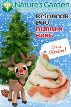 Free Reindeer Poo Bubble Bars Recipe by Natures Garden.
