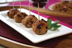 Guilt free cran-tastically easy meatballs