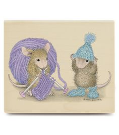 Stampabilities House Mouse Rubber Stamp - Warmth For Winter