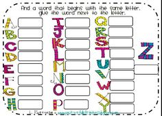 Place this worksheet and some magazines in a center and watch the learning happen! LOOOVVEEE This!! :)