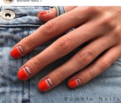 Suzi Nail Nail Polish Strips: How to Use Nail Striping Tape with Gel Polish?, Nail Polish Strips: How to Use Nail Striping Tape with Gel Polish? Minimalist Nails, Minimalist Beauty, Super Nails, Nagel Gel, Pink Nails, Sparkle Nails, Red Tip Nails, Red Matte Nails, Nails Inspiration