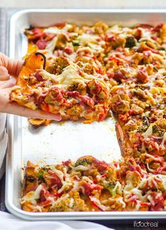 Easy Sweet Potato Pizza Crust -- Made with whole foods, full of good for you carbs and requires no food processor. No flour mess either and you can actually cut it like real pizza and hold the slice.