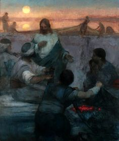 Kirk Richards: Cristo y el pescador.