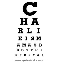Make Your Own Eye Chart Program Free Baby On