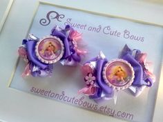 Rapunzel Hair Bows Clips Ties Headbands by SweetandCuteBows, $14.50