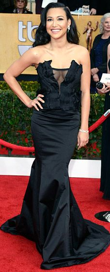 Naya Rivera at the 2013 SAG Awards. She looks so much prettier when she doesn't do so much contouring makeup effects