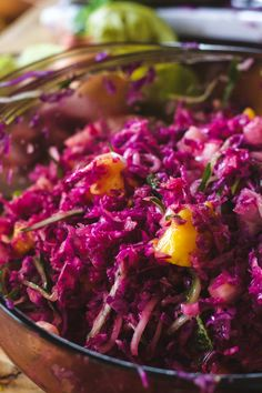 Tropical Red Cabbage Slaw — The Free Spirited