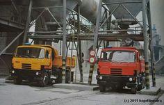 Tatra 815 trucks at work.