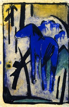 Franz Marc  The Mother Mare of the Blue Horses II  1913