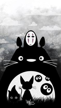 My Neighbor Totoro Art Minimal iPhone 6 wallpaper iPhone