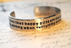 I need this bracelet for those days when I just need a little more affirmation