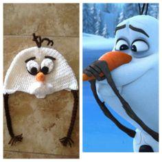 Olaf frozen beanie.handmade hat crochet.Frozen by Vidabella623, $20.00