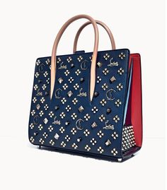 023c86d68e626 Leather Tote Bag - Gold Stud Leather Tote Bag By Christian Louboutin
