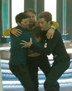 Captain Pike: Innappropriate touching Dr. McCoy! We had training on this.