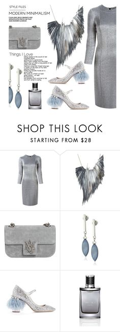 """In Order Not To Take Away From The Stellar Necklace & Shoes, The Set Design Had To Be Simple"" by sharee64 ❤ liked on Polyvore featuring Gianluca Capannolo, Ware London, Alexander McQueen, Kenneth Cole, Miu Miu and Jimmy Choo"