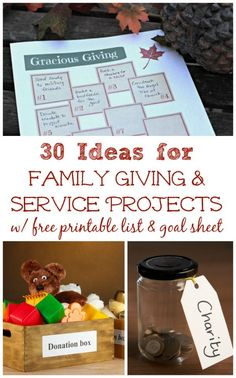 Service Projects for Kids & Families Ideas for family volunteer activities during the holidays {w/FREE printables}!Ideas for family volunteer activities during the holidays {w/FREE printables}! Service Projects For Kids, Community Service Projects, Service Ideas, Thanksgiving Service, Christmas Service, Christmas Time, Christmas Ideas, Family Activities, Learning Activities