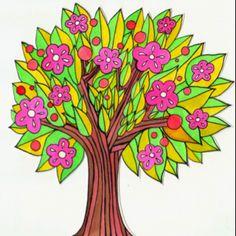 Spring tree Painting Trees, Spring Tree, Tree Art, Wood Art
