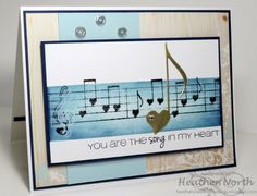 Ghost stamping & sponging with Love Notes stamp set from cas-ual Fridays Stamps.