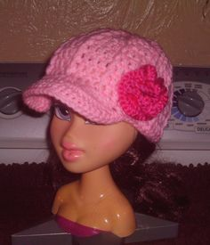 Crochet Baby Hat With Bill Pattern : 1000+ images about Crochet Hats on Pinterest Turkey hat ...