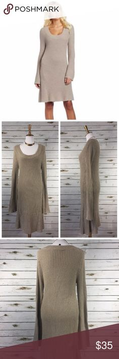 BCBGMaxAzria Pailey Cinder Sweater Dress Sz M Light used condition - see photos.  Dog friendly home. Smoke free home.  Reasonable offers only, please. BCBGMaxAzria Dresses Long Sleeve